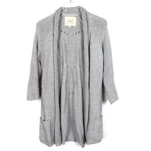 Angels of the North XL Grey Cardigan Sweater